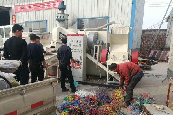 铜米机处理1吨废旧电线的利润是多少?